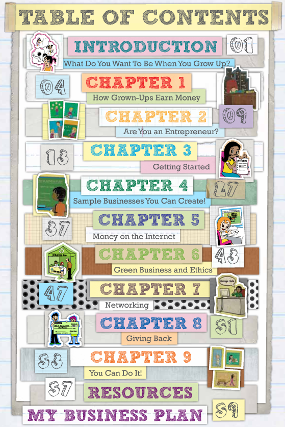 Kidpreneurs-table-of-contents